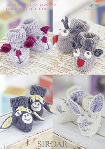 Sirdar Novelty  Baby Bootees in DK -4586